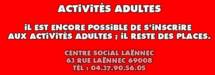 Activit s adultes centre social la nnec - Centre social laennec ...