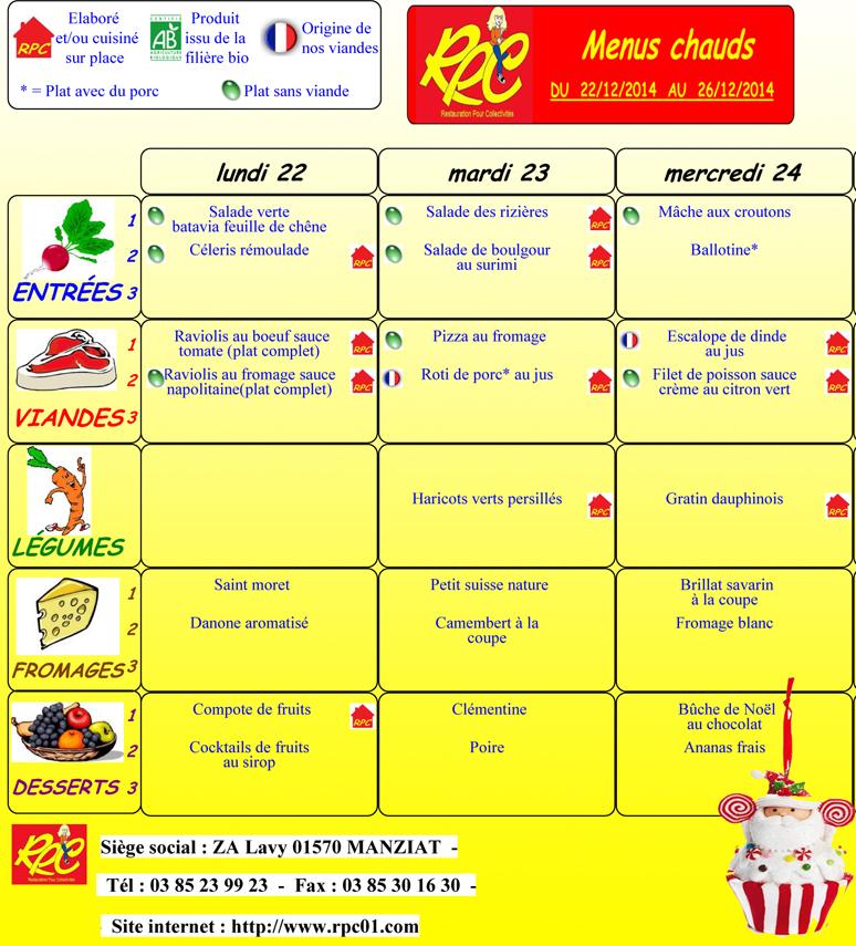 Menus Repas Alsh Centre Social Laennec