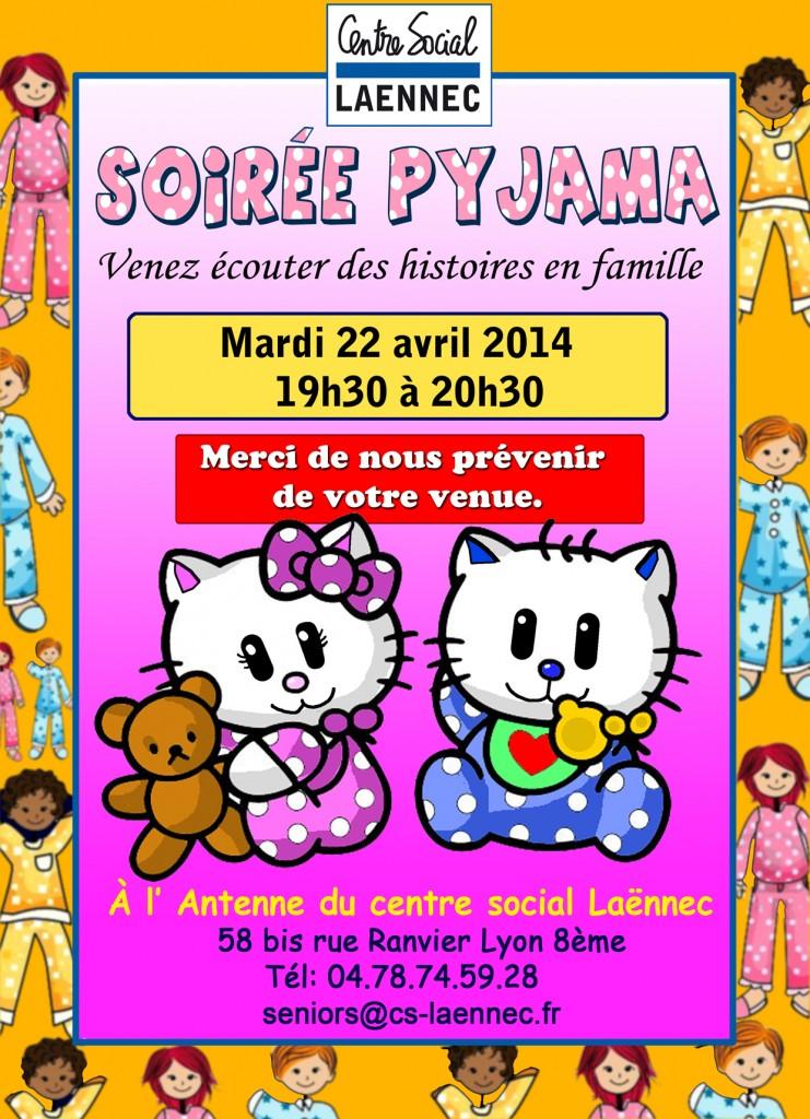 affiche soirée pyjama 22 avril copie
