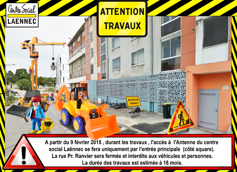 affiche travaux antenne SITE